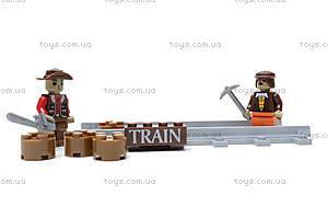 Конструктор «Поезд с древесиной», 25413, іграшки
