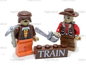 Конструктор «Поезд с древесиной», 25413, детский