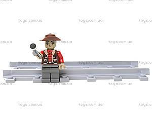 Конструктор «Поезд с животными», 25813, игрушка