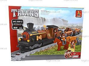 Конструктор «Поезд с животными», 25813, toys