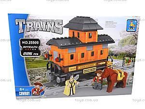Конструктор «Поезд» с ковбоем, 25505, магазин игрушек