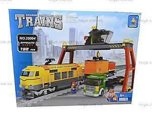 Конструктор «Поезд с краном», 25004, фото