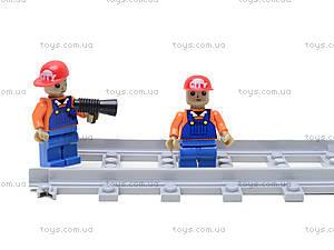 Конструктор «Поезд с машинами», 25412, игрушка