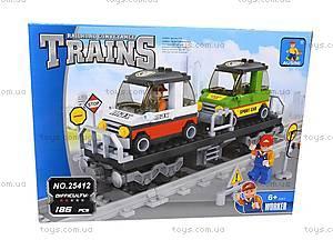 Конструктор «Поезд с машинами», 25412, toys.com.ua