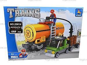 Конструктор «Поезд с топливом», 25414, детские игрушки