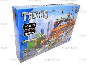 Конструктор «Поезд со станцией», 928 деталей, 25110
