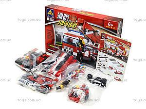 Конструктор для детей «Пожарная машина»,  244 детали, 8053, фото