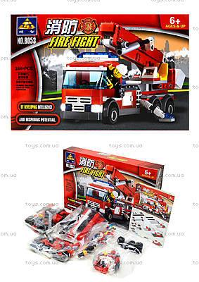Конструктор для детей «Пожарная машина»,  244 детали, 8053