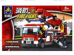 Конструктор для детей «Пожарная машина»,  244 детали, 8053, отзывы