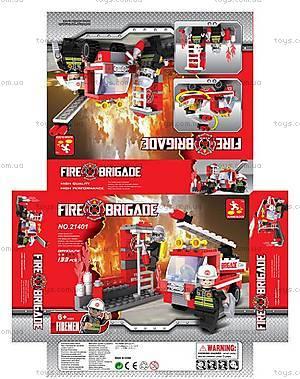 Конструктор «Пожарная бригада», 133 элемента, 21401