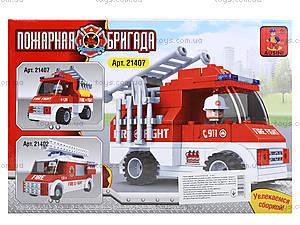 Детский конструктор «Пожарный автомобиль», 101 деталь, 21407, купить