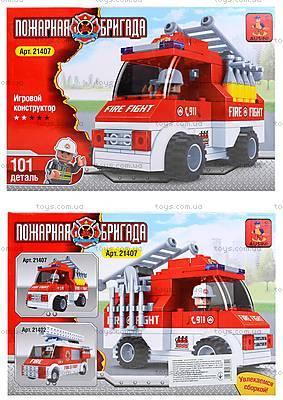 Детский конструктор «Пожарный автомобиль», 101 деталь, 21407