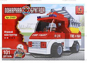 Детский конструктор «Пожарный автомобиль», 101 деталь, 21407, отзывы