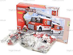 Детский конструктор «Пожарная бригада», 150 деталей, 21402, фото