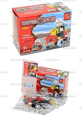 Конструктор для детей «Пожарная бригада», 31 деталь, 21101