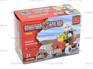 Конструктор для детей «Пожарная бригада», 31 деталь, 21101, фото