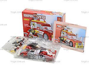 Конструктор для детей «Пожарная бригада», 91 деталь, 21304, купить