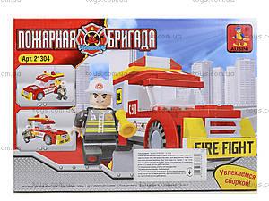 Конструктор для детей «Пожарная бригада», 91 деталь, 21304, фото