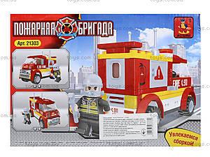 Детский конструктор «Пожарная бригада», 96 деталей, 21303, купить