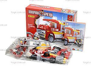 Детский конструктор «Пожарная бригада», 96 деталей, 21303, фото