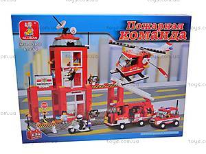 Конструктор «Пожарная команда», 631 деталей, M38-B3100