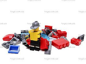 Конструктор «Пожарная машина», 607 элементов, 908, игрушка