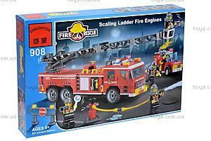 Конструктор «Пожарная машина», 607 элементов, 908, фото
