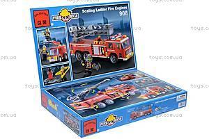 Конструктор «Пожарная машина», 607 элементов, 908