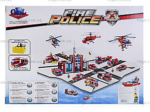 Детский конструктор «Пожарная машина», 276 элементов, KY98207, купить