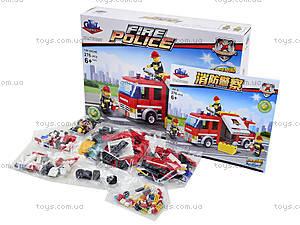 Детский конструктор «Пожарная машина», 276 элементов, KY98207, фото