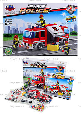 Детский конструктор «Пожарная машина», 276 элементов, KY98207