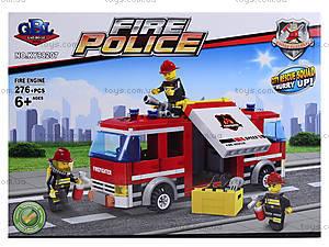 Детский конструктор «Пожарная машина», 276 элементов, KY98207, отзывы