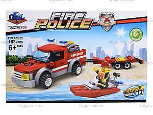 Конструктор «Пожарная машина», 153 элемента, KY98208, отзывы