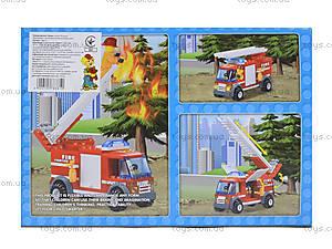 Детский конструктор «Пожарная машина с лестницей», 8815, купить