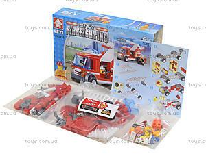 Детский конструктор «Пожарная машина с лестницей», 8815, фото