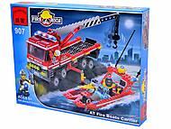 Конструктор «Пожарная охрана», 420 элементов, 907