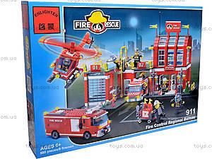 Конструктор «Пожарная охрана», 980 элементов, 911