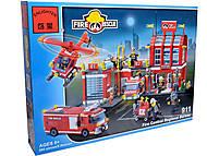 Конструктор «Пожарная охрана», 980 элементов, 911, фото