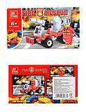 Пожарный спасатель с машинкой, конструктор, 22002, купить