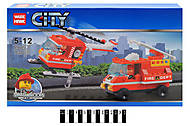 Конструктор «Пожарная техника» серии «СITY», 89005, фото
