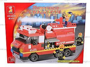 Конструктор «Пожарные спасатели», 281 деталей, M38-B0220R, цена