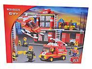 Конструктор «Пожарные спасатели», 371 деталей, M38-B0225R, фото
