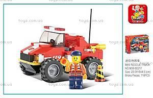 Конструктор «Пожарный джип», M38-B0217