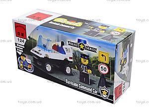 Конструктор «Полицейская машина», 124, игрушки