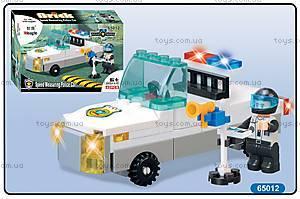 Конструктор «Полицейская машина», на 62 детали, 65012
