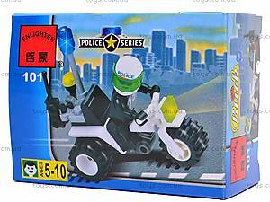 Конструктор «Полицейский мотоцикл», 101, детские игрушки