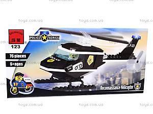 Конструктор «Полицейский вертолет», 123, цена