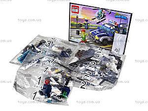 Конструктор детский «Полицейская машина», 394 деталей, 1117, фото