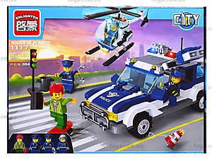 Конструктор детский «Полицейская машина», 394 деталей, 1117, цена