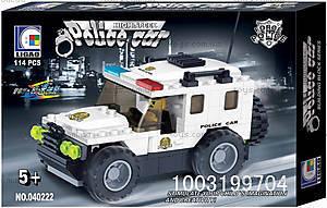 Конструктор «Полицейский джип», 114 деталей, 040222